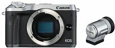 Canon EOS M6 Digital Camera Body + EVF Special Kit -Silver- *Free Shipping*