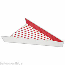 8 Hollywood Classic Red White Stripe BBQ Barbecue Paper Snack Pizza Slice Trays