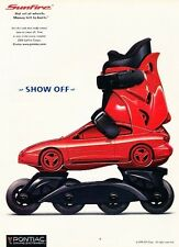 1999 Pontiac Sunfire Rollerblade Original Advertisement Print Art Car Ad J591