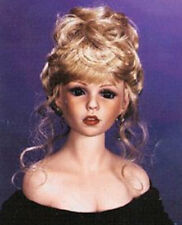 "MONIQUE Doll Wig LYDIA -Shimmering ((Lt Pale Blonde)) Size 10-11"" Curls/bangs"