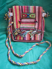 Moroccan Handmade Multi-coloured Wool fully lined Handbag NEW