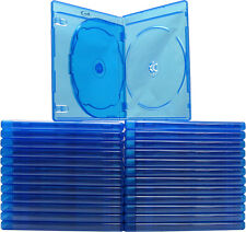 (100) BR3R12BL Blue Blu-Ray DVD Boxes 3 Disc Capacity Cases 12mm Empty Plastic
