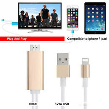 2M Digital AV HDTV HDMI Cable Adapter for iPhone 7 6 Plus iPad IOS10 Plug & Play