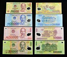 Vietnam Polymer-Banknoten. 10000, 20000, 50000, 100000 Dong.  UNC. 4PCS. Asien.