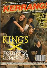 Kings X on Kerrang Cover 1992    Spinal Tap   Rob Halford   Primus   Inger Lorre