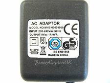 1A/1000MA 9V AC/AC OUTPUT MAINS POWER ADAPTOR/SUPPLY/CHARGER/TRANSFORMER
