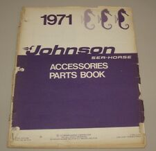 Parts Book Johnson Outboard Sea Horse 40 50 60 100 125 HP Accessories Stand 1971
