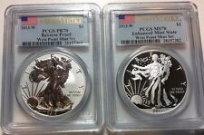 2013-W West Point Mint Set PCGS MS 70 & PR 70 Silver Eagle First Strike Perfect
