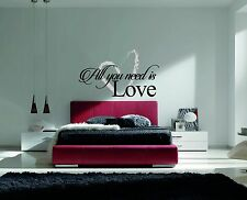 All You Need Is Love Quote Inspirational Heart Wall Decal Decor For Home