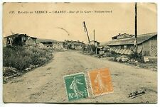 CARTE POSTALE  BATAILLE DE VERDUN CHARNY RUE DE LA GARE STATION STREET