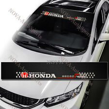 "HONDA Logo Car Window Windshield Carbon Fiber Vinyl Banner Decal Sticker 53"" DIY"