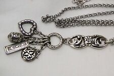 New Brighton Silver Charm Pendent Long Chain Altered Necklace