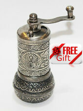 Turkish Pepper Salt Grinder Coffee Spice Grinder Mill 4.3 inch + FREE GIFT  (6)