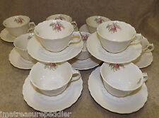 Vintage Spode Jewel Billingsley Pink Rose 10 Cup and Saucer Sets England