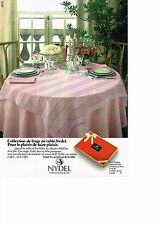 PUBLICITE  1979   NYDEL    ine de table  nappe   service Mary Poppins