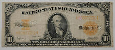 1922 $10 Dollar Gold Certificate Large Size Note F-1173 Nice Condition Rare