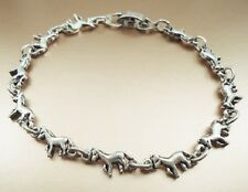 Childrens Bracelet Tiny Horses antique silver plated Size 6 Inch
