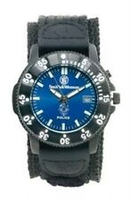 New Authentic Smith & Wesson Men's Police Black Nylon Strap Watch SWW-455P
