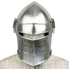 Knights Detachable Visor Barbute 16 Guage Functional Helmet Armor