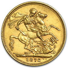 Great Britain Gold Sovereign Coin - Young Victoria - Random Year - SKU #49475