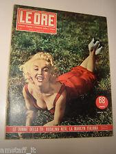 LE ORE 1954/66=ROSALINA NERI LA MARILYN MONROE ITALIANA= RIVISTA COPERTINA=
