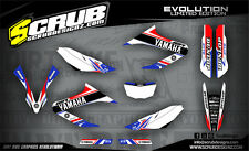 SCRUB Yamaha graphics decals kit WR 125X 2009 - 2017 stickers motocross '09-'17
