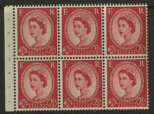 Great Britain   1952-54   Scott # 296a    Mint Never Hinged Booklet Pane