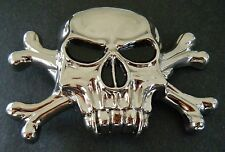 SKULL SKELETON HEAD GOTHIC CROSS CROSSBONES PUNK BELT BUCKLES BOUCLE DE CEINTURE