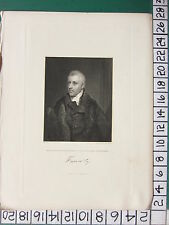 c1830 ANTIQUE PRINT ~ DUDLEY RYDER ~ EARL OF HARROWBY