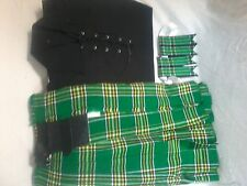 Irish Heritage Tartan Kilt Outfit 7 Pieces Package