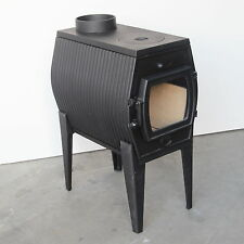 Cast Iron Slow Combustion Radiant Wood Heater Pot Belly Stove Fire Fireplace