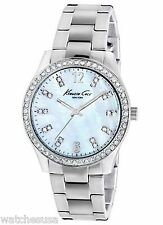 Kenneth Cole NY Women's Crystal Accented MOP Dial Stainless Steel KC4894