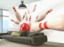 Bowling  Wall Mural Photo Wallpaper GIANT WALL DECOR PAPER POSTER FREE GLUE