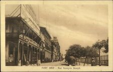 Port Said Egypt Rue Francois Joseph c1915 Postcard