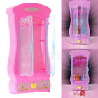 Closet Wardrobe for Barbie Princess Doll House Bedroom Furniture Miniature