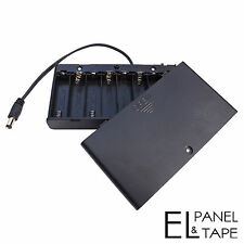 Enclosed 8xAA Battery Box for Electroluminescent Panels, Wire and Tape