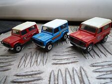 Matchbox die-cast Land Rover 90s x 3 all great condition 1987 1.62 scale red x 2