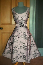 "GORGEOUS PHASE EIGHT ""SASHA ROSE"" FIT & FLARE EVENING DRESS, SIZE 12"