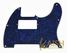 Tele Style Humbucker Pickguard Scratch Plate Blue Pearl Fits Telecaster 3 Ply