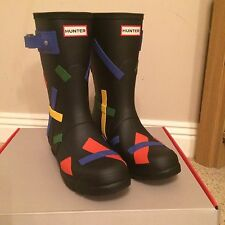 Hunter Women's Original Short Ticker Tape Wellies - Size 7 - Limited EDITION