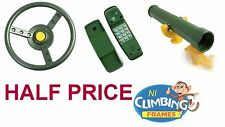 Half Price Telescope, Steering Wheel, Telephone Climbing Frame Playden Playhouse