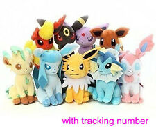 Set of 9 New Pokemon Evolution of Eevee Plush doll Toy Eeveelution 9pcs