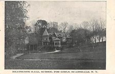 1905 Heathcote Hall School for Girls Scarsdale NY post card Westchester County