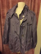 Burberry Nylon Windbreaker Jacket Size 14/XL Mauve Color $698