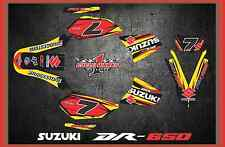 Suzuki DR650S DR 650 SUPERMOTO SEMI CUSTOM GRAPHICS KIT FREE CUSTOMIZATION DR2