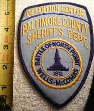 BALTIMORE COUNTY MARYLAND DETENTION CENTER PATCH (HIGHWAY PATROL, SHERIFF)