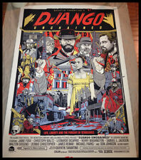 DJANGO UNCHAINED BY TYLER STOUT SCREEN PRINT MONDO Rare & Sold Out!