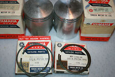 Yamaha  snowmobile nos piston and rings  Sw396 1970 2nd over  vintage GP396 1971