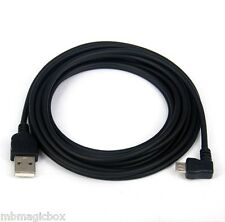 3M 10ft CHARGER ONLY Left Angle Micro USB Cable BLACK for Yoga Tab 3 Pro 10 8 2