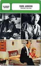 Card Actor. Fiche Cinéma . Curd Jurgens (Allemagne/Autriche) Période 1954-1963